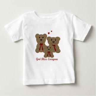 Teddybär-Segen ~ Gott segnen jeder Baby T-shirt