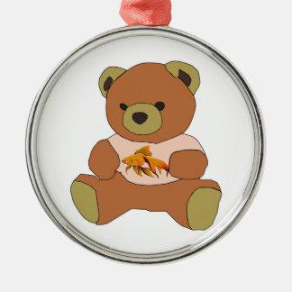 Teddybär Silbernes Ornament