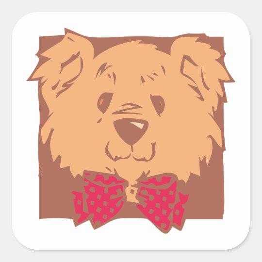 Teddybär teddy bear quadratischer aufkleber