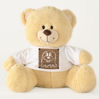 Teddybär u. hölzernes Platte 2 鬼鬼 (groß)