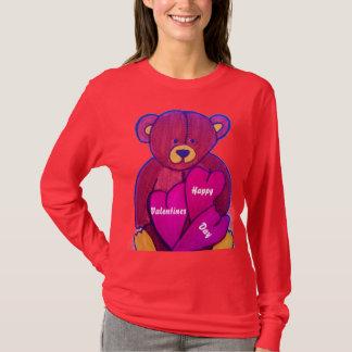 TEDDYBÄR-VALENTINSGRUSS-Spitze T-Shirt