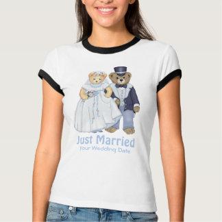 Teddybär Wedding - fertigen Sie besonders an T-Shirt
