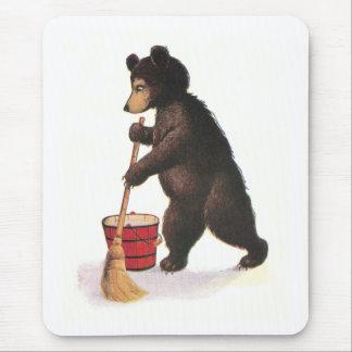 Teddybär-wischender Boden Mousepad