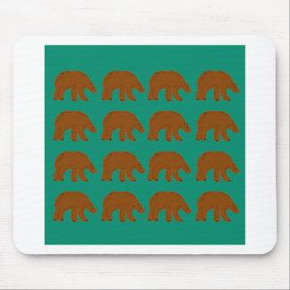 Teddybären auf tadelloser Ausgabe Mousepad