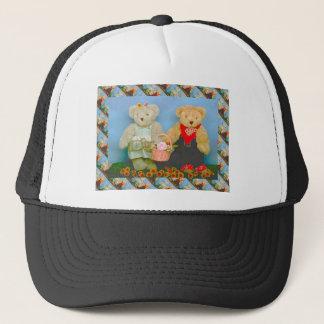 Teddybären, bearly Tätigkeiten Truckerkappe