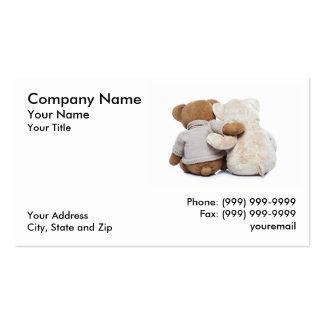 Teddybären, die sich umarmen visitenkarten