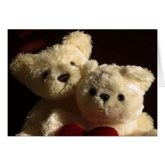 Teddybären in der Liebe Karte