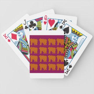 Teddybären polar auf Rosa Bicycle Spielkarten