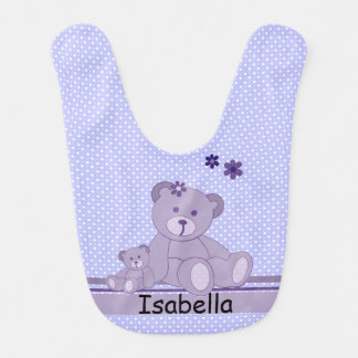 Teddybären und Tupfen Lätzchen
