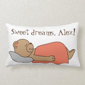 Teddybärentwurf der süßen Träume Lendenkissen