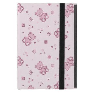 Teddybärhintergrund Rosa iPad Mini Hülle