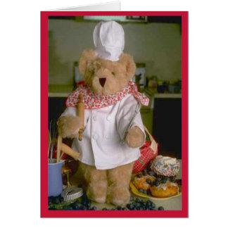 Teddybärn-Koch Grußkarte