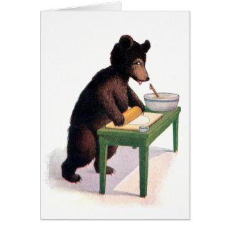 Teddybärrolls-Teig für Kekse Karte