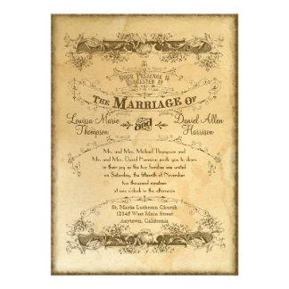 Tee befleckte Vintage Hochzeit 2 - Einladung laden