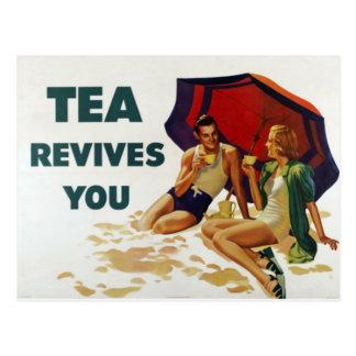 Tee belebt Sie wieder Postkarten