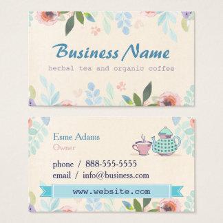 Tee-BlumenVisitenkarte Visitenkarte