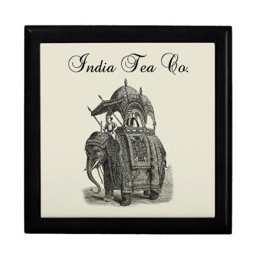 Tee Co des Elefant-| Indien Erinnerungskisten