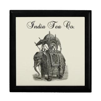 Tee Co des Elefant-| Indien Große Quadratische Schatulle