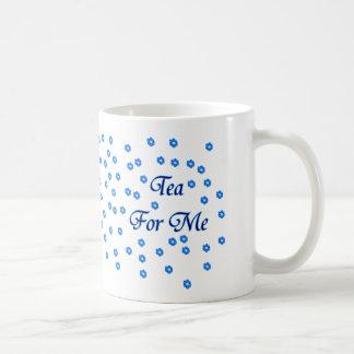 Tee für mich hübsche blaue Blumen Kaffeetasse