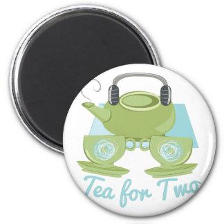 Tee für zwei runder magnet 5,1 cm