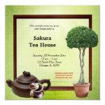 Tee-Haus-festliche Eröffnung Personalisierte Einladungskarten