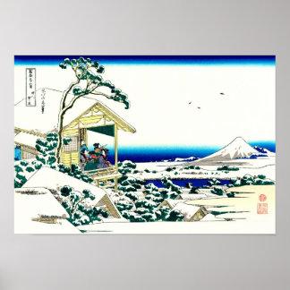 Tee-Haus Hokusai Japaner-schöne Kunst Poster