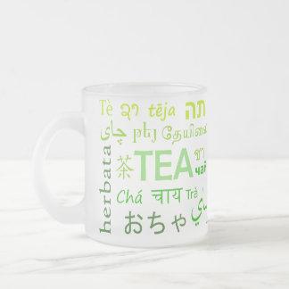 Tee in jeder Sprache im Grün Mattglastasse