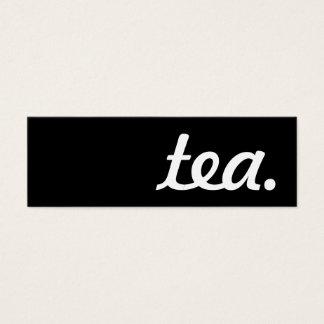 Tee. LoyalitätsLochkarte Mini Visitenkarte