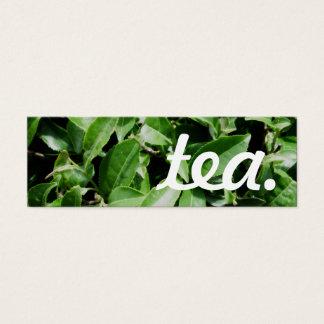 Tee. LoyalitätsLochkarte Mini-Visitenkarten