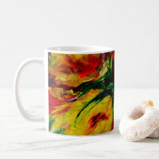 Tee mit einer Familie auf Erntedank Kaffeetasse