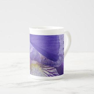 Tee mit mir! Knochen-Rippenstück-Tee-Schalen-Iris-