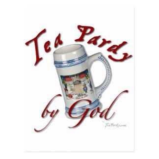Tee Pardy durch Gott Postkarte
