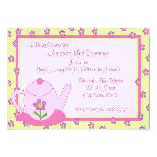 Tee-Partei-Babyparty 12,7 X 17,8 Cm Einladungskarte