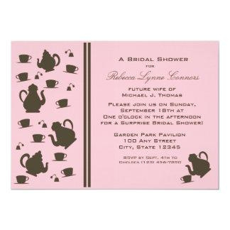 Tee-Partei-Brautparty 12,7 X 17,8 Cm Einladungskarte