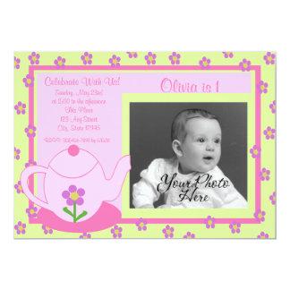 Tee-Partei-Foto 12,7 X 17,8 Cm Einladungskarte