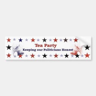 Tee-Party-Autoaufkleber-politischer Gang Autoaufkleber