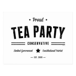 Tee-Party-Konservativer Postkarte