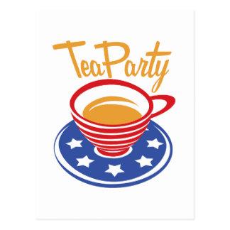 Tee-Party Postkarte