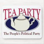 Tee-Party-Steuer-Tagmousepad Mauspads