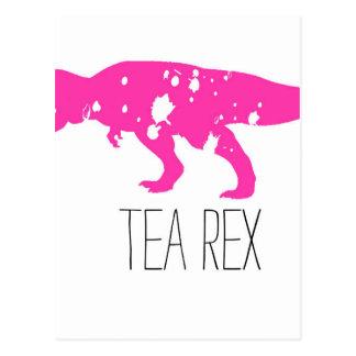 Tee Rex Rosa Postkarte