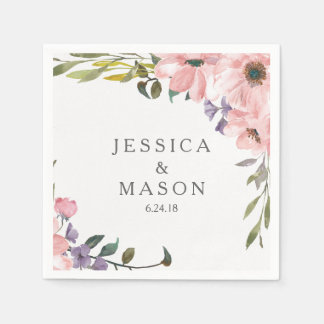 Tea Rose Bridal Shower Napkins