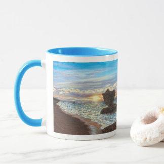 Tee-Schalen-Felsen-Sonnenuntergang-Tasse Tasse