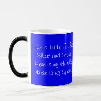 Tee-Schalen-Tee-Topf kurz, Stout, verwandelnde Verwandlungstasse