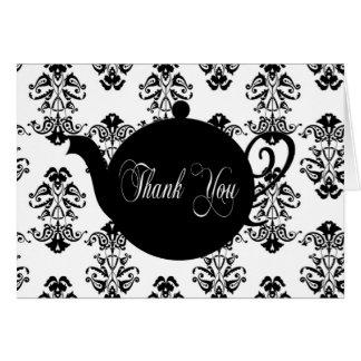 Tee-Topf danken Ihnen Karte