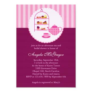 Tee-Topf und Gebäck-Brautparty-Einladung 12,7 X 17,8 Cm Einladungskarte