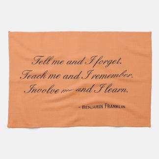 Tee-Tuch - Franklin-Zitat: beziehen Sie mich mit Küchentuch