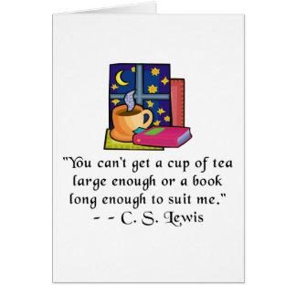 Tee-u. der Buch-w Zitat Notecard Karte
