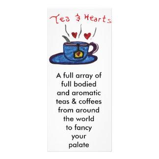 Tee und Herzen Werbekarte
