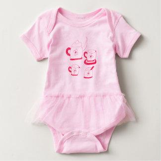 Tee-Zeit-Ballettröckchen Babygrow Baby Strampler