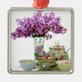 Tee-Zeit-Kalender 2018 Silbernes Ornament
